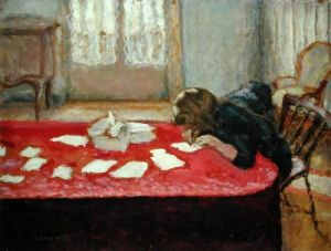 Pierre Bonnard, Girl Writing