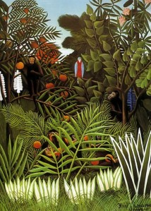 Henri Rousseau - Jungle Painting.  #rhizomatic