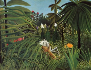 Henri Rousseau, Horse Attacked by Jaguar