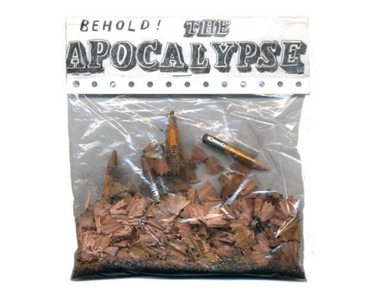 "David Fullerton ""Behold the Apocalypse"" from the installation, Sisyphus Office Exhibition, Houston 2009*"