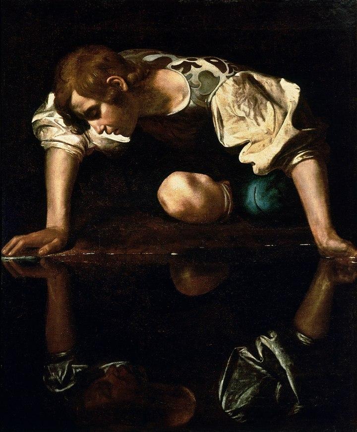 1024px-Narcissus-Caravaggio_(1594-96)_edited